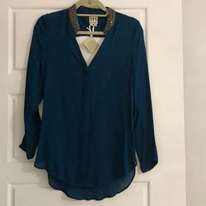 Haute hippie emerald shirt